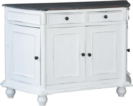 CC-CAB220TLD-WWRW Cottage Angled Console Cabinet with Multiple Storage Doors  Distress Details  Wood Construction  Smooth Wooden Flat Top Surface and