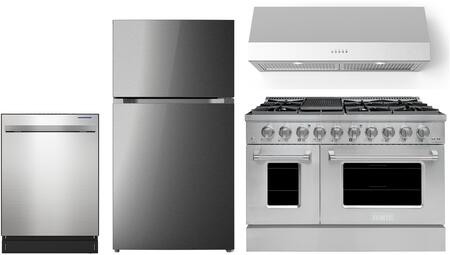 Forte  1500854 Kitchen Appliance Package Stainless Steel, 1