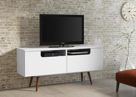 Ideaz International Jensen 23104WS 52 in. and Up TV Stand White, Main View