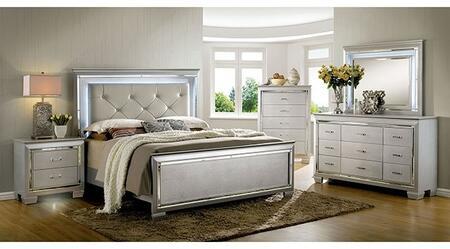 Furniture of America Bellanova CM7979SVKBDMCN Bedroom Set, Main Image