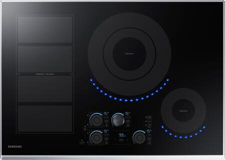 """Samsung NZ30K7880US 30"""" Stainless Steel Induction Smoothtop Cooktop with Flex Zone"""