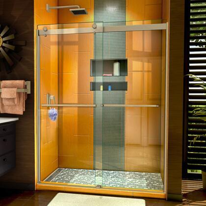 SHDR-6360762-04 Sapphire 56-60″ W x 76″ H Semi-Frameless Bypass Shower Door in Brushed