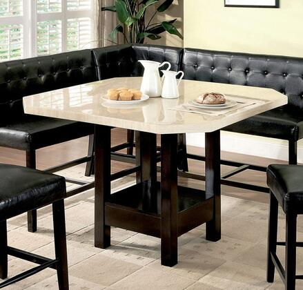 Furniture of America Bahamas CM3427PT Dining Room Table Multicolor, Without Chairs