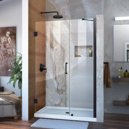 DreamLine  SHDR2044721009 Shower Door , Unidoor Shower Door with Base 12 28D 18P support arm 09 72 WM 11 16