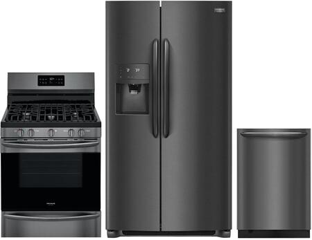 Frigidaire 988182 Kitchen Appliance Package & Bundle Black Stainless Steel, main image