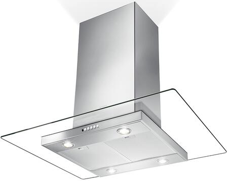 Faber  GLASIS36SSV Island Mount Range Hood Stainless Steel, Main Image
