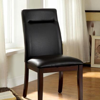 Furniture of America Lawrence CM3130SC2PK Dining Room Chair Black, Main Image