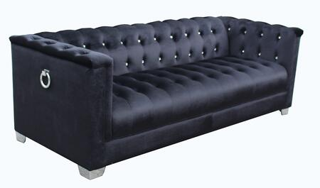 Coaster Chaviano 505395 Stationary Sofa Black, Main Image