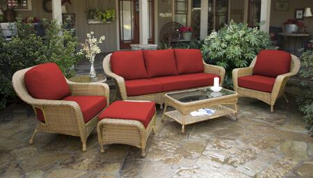 Tortuga Sea Pines LEX651MRAVEC Outdoor Patio Set Brown, LEX651MRAVEC Main Image