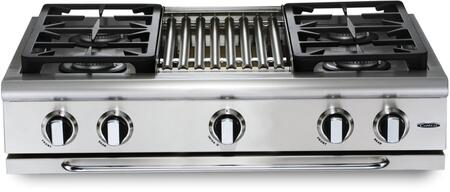 Capital Precision GRT364BL Gas Cooktop Silver, Main Image