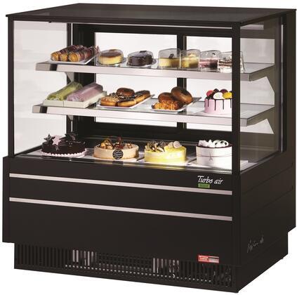 Turbo Air TCGB48UFBN Display and Merchandising Refrigerator Black, TCGB48UFBN Angled View