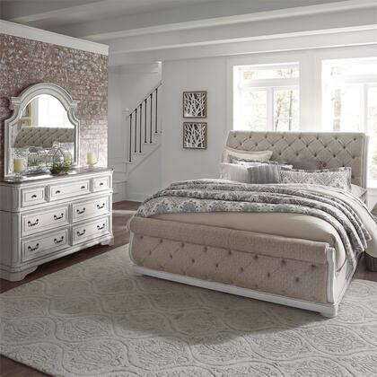 Liberty Furniture Magnolia Manor 244BRKUSLDM Bedroom Set White, 244 br qusldm