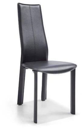 Whiteline Allison DC1004HBLK Dining Room Chair Black, DC1004H-BLK Side View