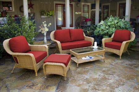 Tortuga Sea Pines FN21500MMONS Outdoor Patio Set Brown, FN21500MMONS Main Image