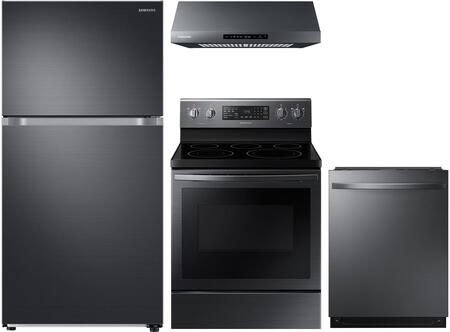 Samsung  1011436 Kitchen Appliance Package Black Stainless Steel, Main Image