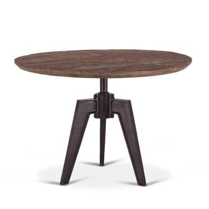 Dakota Collection ZWCRRD42BSTF Dining Table in Brown