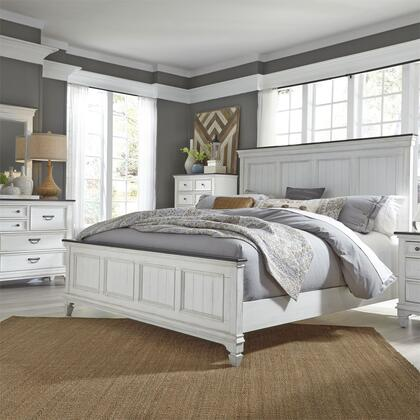 Liberty Furniture Hamilton 417BRKPBDMC Bedroom Set White, 417 br qpbdmc