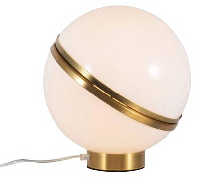 BE08 1-Light Table Lamp with Metal and Acrylic Materials and 60 Watts in Gold