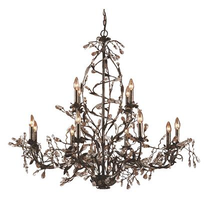 8055/8+4 Circeo 12-Light Chandelier with Branches in Deep