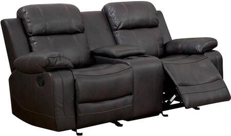 Furniture of America Pondera CM6568LV Loveseat Brown, Main Image