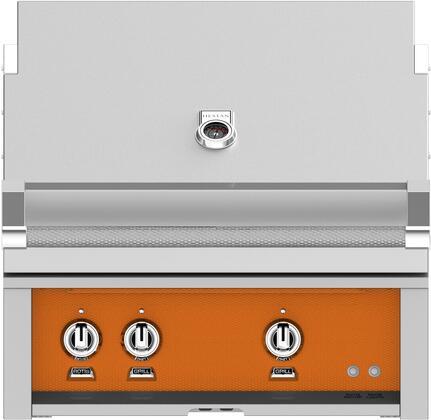 Hestan GSBR30LPOR Liquid Propane Grill Orange, Front View