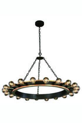 Elegant Lighting 1500G40VBGI Ceiling Light, 1500G40GIVB