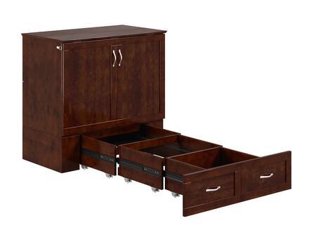 Atlantic Furniture Hamilton AC621144 Bed Brown, AC621144 SILO BD2 30