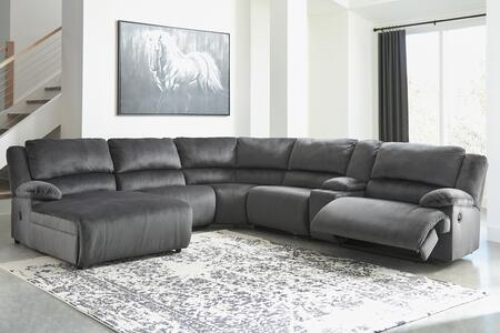 Signature Design by Ashley Clonmel 36505054677195741 Sectional Sofa Gray, 36505 05 46 77 19 57 41