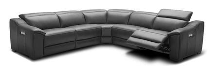 J and M Furniture Nova 18775DG Sectional Sofa Gray, Main Image