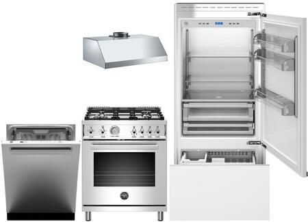 Bertazzoni  975808 Kitchen Appliance Package Panel Ready, main image