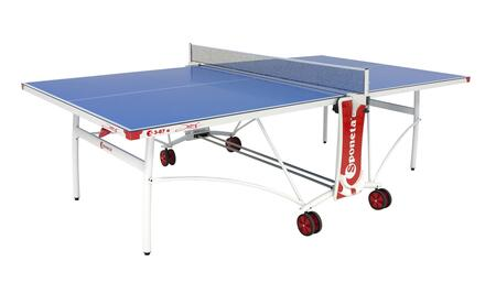 Sponeta Joy S3-87E 108″ x 60″ Outdoor Table Tennis Table with Weatherproof 5mm Melamine Top  Smart Manual System  Adjustable Table Top Up to 30mm