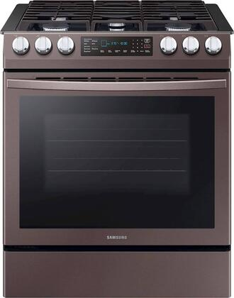 Samsung  NX58R9421ST Slide-In Gas Range Tuscan Stainless Steel, NX58R9421ST Front View