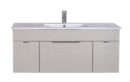 Cutler Kitchen and Bath Textures FVCW48 Sink Vanity White, Main Image