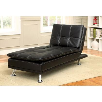 Furniture of America Hauser CM2677BKCE Chaise Lounge Black, Main Image