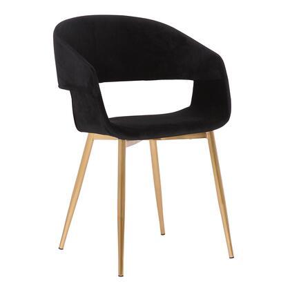 Armen Living Jocelyn LCJCCHGLDBL Dining Room Chair Black, LCJCCHGLDBL side