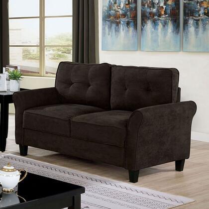 Furniture of America Alissa CM6213BRLV Loveseat Brown, cm6213br lv 1