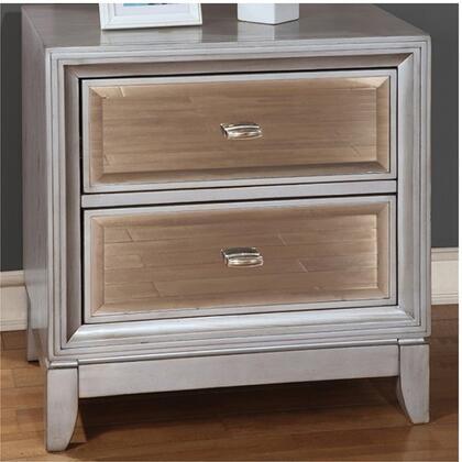 Furniture of America Golva CM7295SVN Nightstand Silver, Main Image