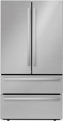 SJG2351FS 36″ Stainless Steel 4-Door French Door Refrigerator with 22.5 cu. ft. Capacity  Automatic Ice Maker and Humidity-Controlled Crisper