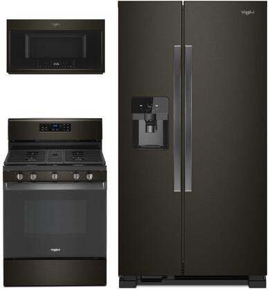 Whirlpool  995714 Kitchen Appliance Package Black Stainless Steel, main image
