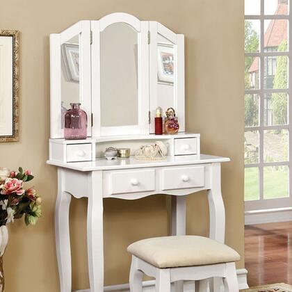 Furniture of America Janelle CMDK6846WH Vanity , cm dk6846wh