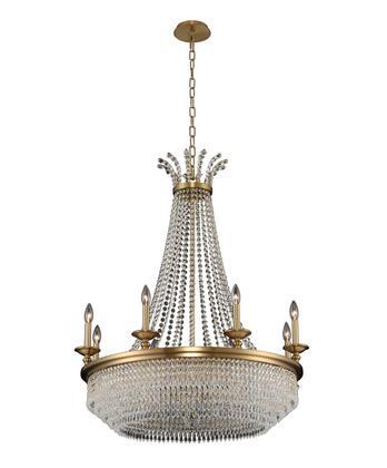 Tavo 033971-044-FR001 8-Light Chandelier in Winter Brass Finish with Firenze