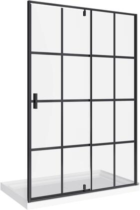 SD-021-3648-BLK Taylor 48-RP Bath Screen Shower Enclosure Lack Matte 48×60 With Acrylic Base  in