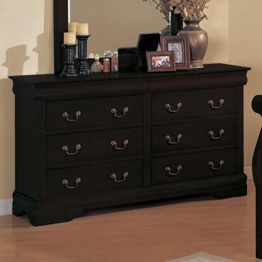 Myco Furniture Louis Philippe 6707DRBK Dresser, 1