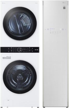 LG  1329667 Washer & Dryer Set White, Main image