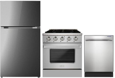 Forte  1500856 Kitchen Appliance Package Stainless Steel, main image