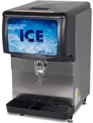 Ice-O-Matic  IOD150 Ice Bins and Dispenser Stainless Steel, Angled View of the Front and Side