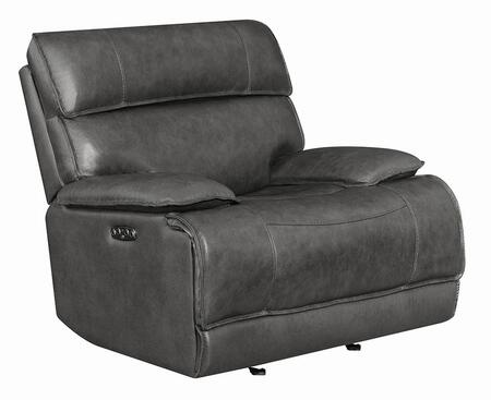 Coaster Stanford 650223PPB Recliner Chair Gray, Main Image