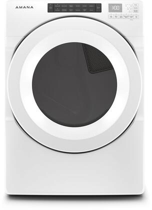 NED5800HW 27″ Front Load Electric Dryer with 7.4 cu. ft. Capacity  Sensor Drying  Sanitize Cycle  Quad Baffles  Eco Dry Option  Energy Star  in