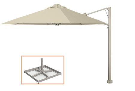 Shadowspec SU7 Series KITP7SQ25PBWHTA Outdoor Umbrella White, White Sand