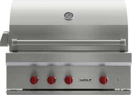 Wolf OG36LP Liquid Propane Grill Stainless Steel, Front View